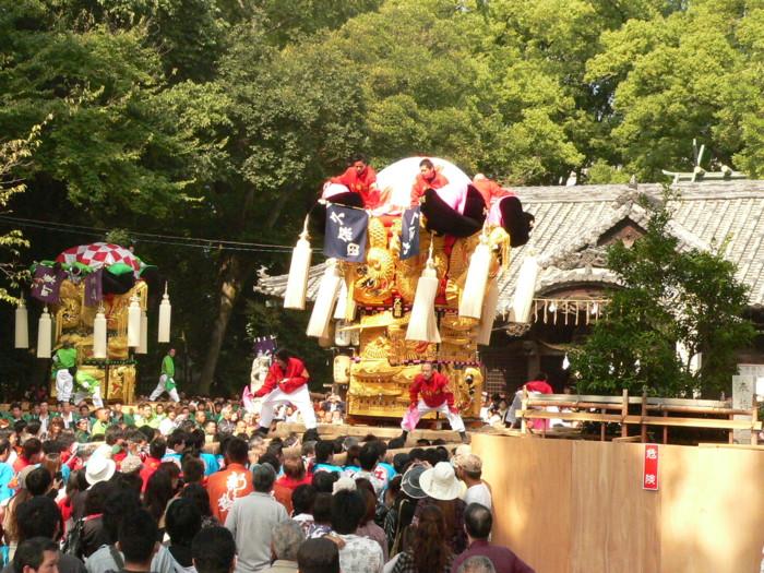 一宮神社の久保田太鼓台