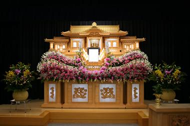 ピンク花祭壇2