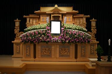 ピンク花祭壇1