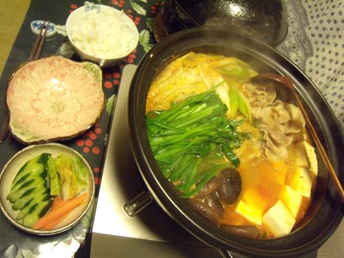 8キムチ鍋定食
