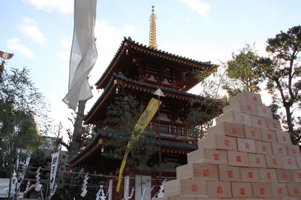 福枡と三重塔