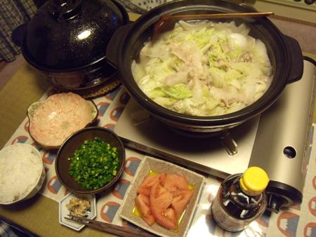 1白菜と豚バラの鍋