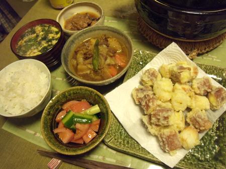 6チーズちくわ天ぷら定食
