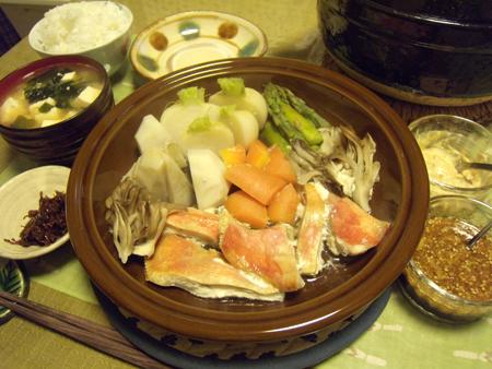 5金目と色々野菜のタジン蒸し定食