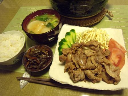 4豚の生姜焼き定食