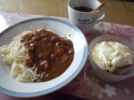 6カレーソフト麺ランチ