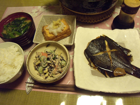 7黒かれいの煮付け定食