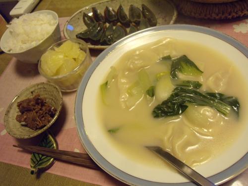 6白湯水餃子定食