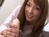 一度は体験してみたいキレカワお姉さん妃悠愛のオナホ手コキ!