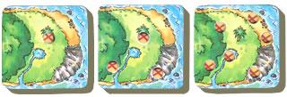 宝石ハンター:半分島タイルの穴