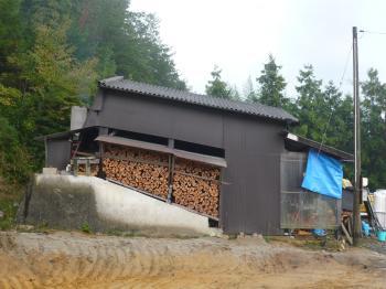 登り窯の建物